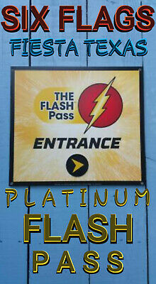 Six Flags Fiesta Texas Platinum Flash Pass Package ...Skip The Lines - Any Day