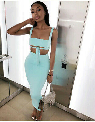 18ed566501 2 Piece Set Women Two Piece Outfits Crop Top And Skirt Set Bodycon Matching  Sets