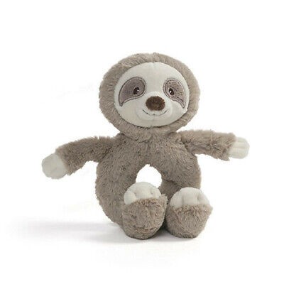 RING RATTLE Baby Safe Embroidered Accents Gund Baby Toothpick Sloth Plush