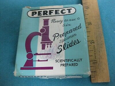 Vintage set of Microscope Prepared Slides by Perfect, set #810-E and others