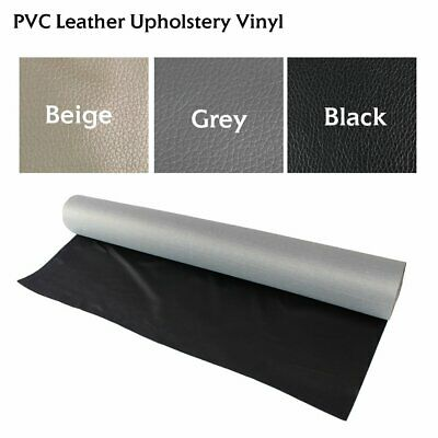 "Vinyl Fabric Upholstery 54""W Faux Leatherette Auto Marine Boat Outdoor Replace"