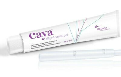 Caya Gel 60g For Diaphragm Use - Reduced Motility of Sperm Cells NEW & Genuine