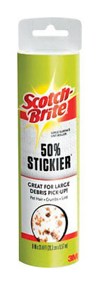 "NEW! 3M SCOTCH-BRITE Plastic Lint Roller Refill 8"" Wide 60-Sheets 830LSRFS-60"