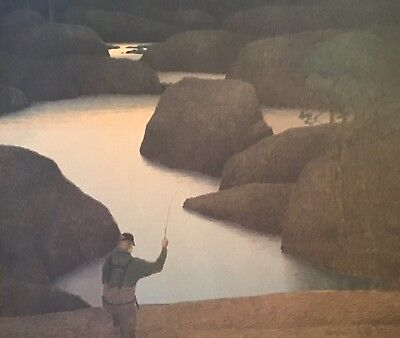 Russell Chatham Original Lithograph Fishing Cheesman Canyon Signed #'d Vtg 2003