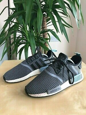 new style de33a 5ec5b MEN'S ADIDAS NMD R1 Nomad Runner Core Black/White/Clear Blue S79159 - Size 8