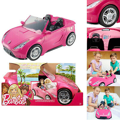Barbie Glam Convertible Sleek Sporty Sparkly Exterior Pink Car Doll Kid Toy Girl