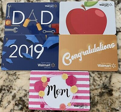 Walmart Canada Gift Card Set Mothers Fathers Day 2019 Grad Mom Dad Apple 5