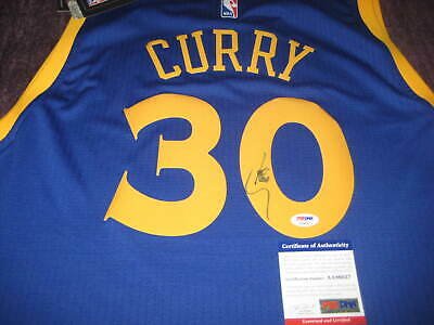 83df26b3334 STEPH CURRY Signed GOLDEN STATE WARRIORS Adidas Swingman JERSEY w/ PSA COA