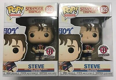 Lot of 2 Stranger Things Steve Baskin Robins 31 Exclusive Funko Pop #829 NIB