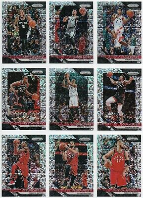 2018-19 Panini Prizm Fast Break Toronto Raptors 9 Cards Team Set Kawhi Siakam +