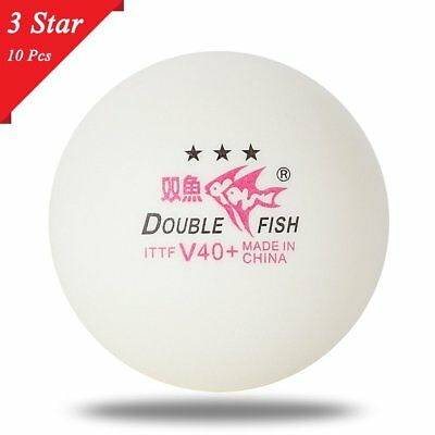 10pcs/set Double Fish V40+ 3 Stars Table Tennis Balls ABS Polymer Balls Lq