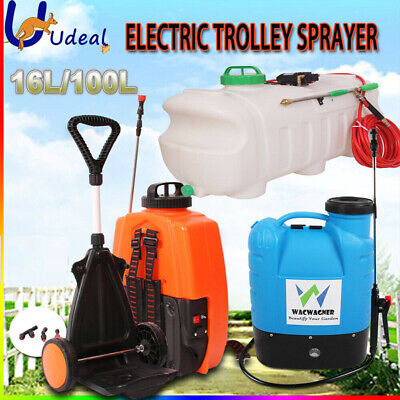 16L 100L Electric Sprayer Garden Weed Spray Rechargeable Backpack Farm Tool