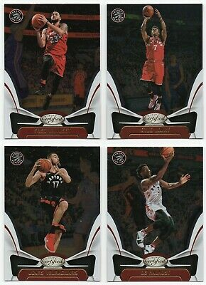 2018-19 Certified Toronto Raptors 4 Cards Team Set Kyle Lowry Fred VanVleet +