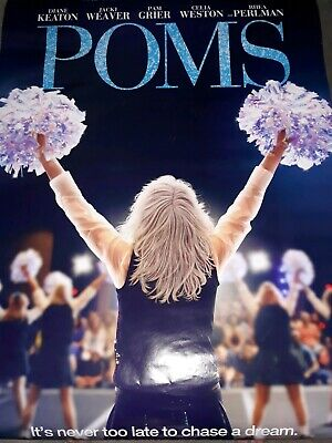Poms - original DS movie poster 27x40 D/S - 2019 Diane KeatonFree GIFT included