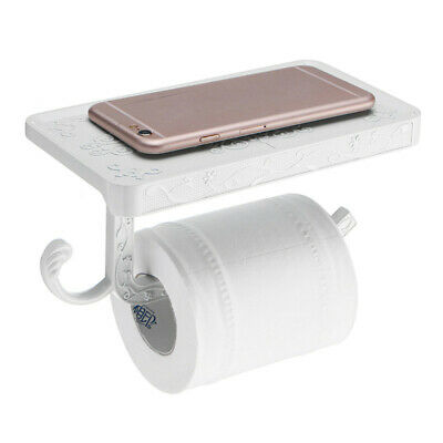 Luxury Toilet Roll Tissue Paper Holder Stand Phone Shelf Wall Mounted Bathroom
