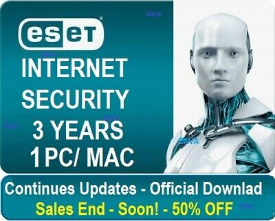 ESET INTERNET SECURITY 2019 | 1 PC | 3 YEAR | Windows | INSTANTLY DELIVERY