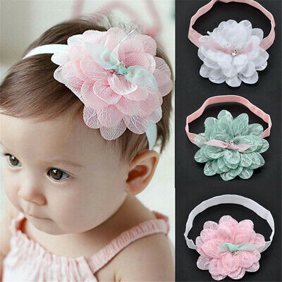 Cute Baby Girl Kids Toddler Lace Flower Hair Band Headwear Headband Accessories