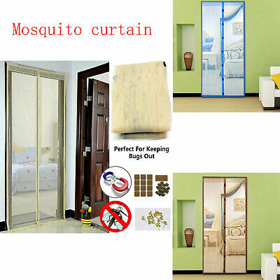 Magic Curtain Door Mesh - Magnetic Hands Free Fly Mosquito Bug out Insect Screen
