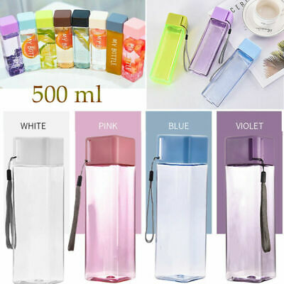 BPA Free Outdoor Sports Water Bottle Portable Leak Proof Juice Drinking Bottle