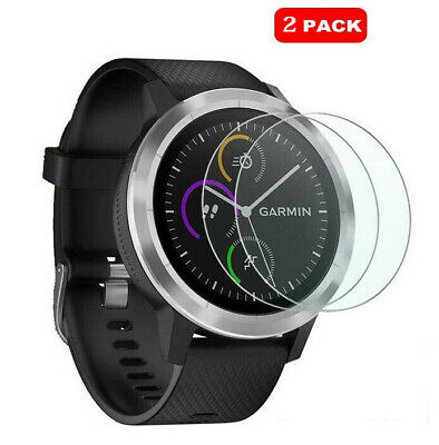 For Garmin Vivoactive 3 Tempered Watch Glass Screen Protector Cover 2 x Pack