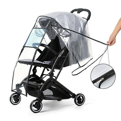 Quality Universal Buggy Pushchair Stroller Pram Transparent Clear Rain CoverBaby