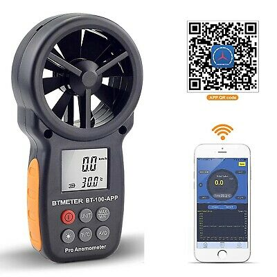 Digitaler Windgeschwindigkeitsmesser Windmesser Handheld Wireless Bluetooth Vane