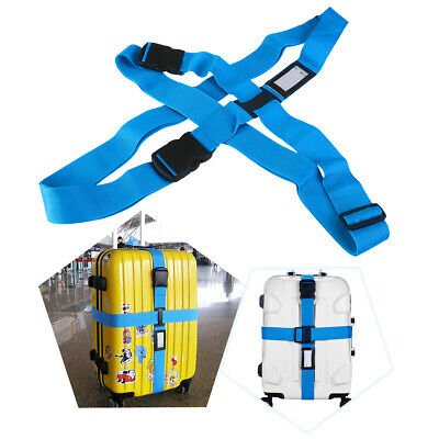 Adjustable Luggage Suitcase Packing Strap Belt Stripe for Outdoor Travel