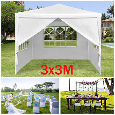 3x3m Gazebo Marquee Wedding Party Tent Outdoor Garden Patio Canopy Waterproof PE