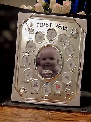 Malden Baby's First Year Collage Picture Frame - !!, New  4B