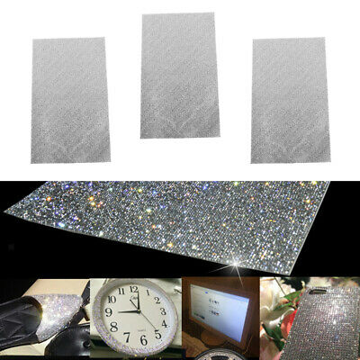 "9.5x16"" Bling Dazzling Diamond Crystal Rhinestones Self Adhesive Sticker 3pc"