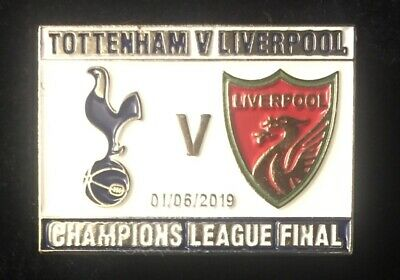 Champions League Final 2019 badge Liverpool v Spurs Madrid  FREE POSTAGE In UK