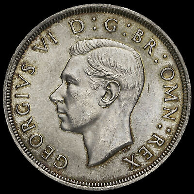 1937 George VI Coronation Silver Crown, A/UNC