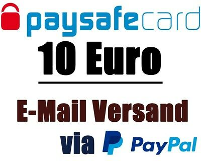 Paysafecard Code 10€ | Code via E-Mail / Ebay | PayPal | WORLDWIDE