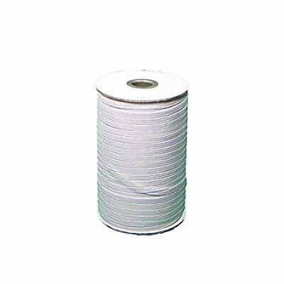 Braided Elastic 3/8'' Wide 144 Yards-White