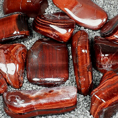 """Red Tiger's Eye Tumble Polished Crystal Stone, 1 pc, Sizes 1.1 to 1.75"""", TS828"""