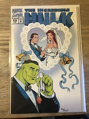 Marvel Comics The Incredible Hulk #418 Good Condition Wedding Issue