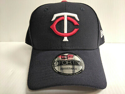 c5c9b5151a6bae Minnesota Twins New Era Cap 9Forty Adjustable Hook & Loop Navy League Hat  MLB