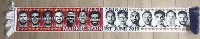 Champions League Final Madrid Match Scarf Liverpool V Spurs FREE POSTAGE UK