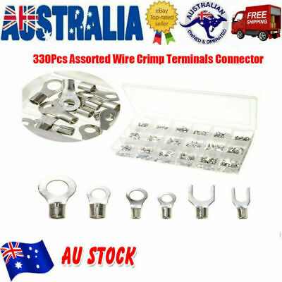 330x Assorted Wire Crimp Terminals Insulated Electrical Connectors Kit AU Stock
