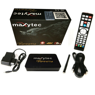 Maxytec Infinity TV IP Receptor 3D Android 7.1 Streaming Caja 4K Hornet
