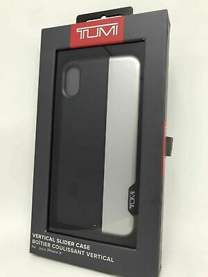 6b0cf144ddff35 TUMI Vertical Slider Hard Shell Case Cover for iPhone X iPhone XS -  Black/Silver