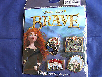 Disney * PRINCESS MERIDA - BRAVE * New in Pack Retired 4 Pin Booster Set