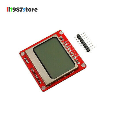1PCS 84X48 Nokia 5110 LCD 84*48 Module with blue backlight adapter PCB