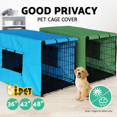"i.Pet 36"" 42"" 48"" Pet Dog Puppy Cage Collapsible Cover Cat Rabbit Crate Kennel"