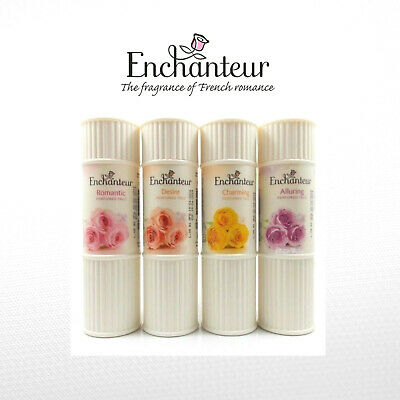 Enchanteur Perfumed Talc 4 Delicate French Soft Scented Talcum Body Powders
