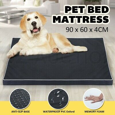 Memory Foam Pet Dog Bed Waterproof Soft Puppy Cat Mat Pad Cushion Mattress 90x60