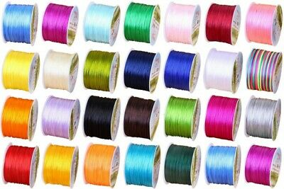 1 mm Nylon Macrame Chinese Knoting Rattail Satin Cord Shamballa Thread String