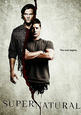 SUPERNATURAL TV SERIES JARED PADALECKI & JENSEN ACKLES Silk Poster 12x18 24x36