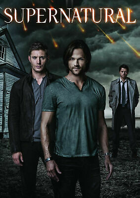 SUPERNATURAL JARED PADALECKI AND JENSEN ACKLES Art Silk Poster 12x18 24x36