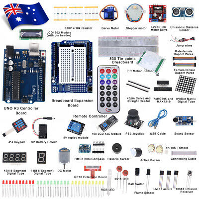 Professional UNO R3 Starter Kit for Arduino Beginner LCD Compass Gyro Processing